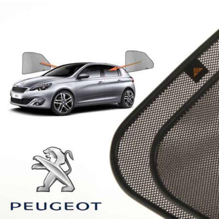 Cortinillas Parasoles Laterales Traseras para Peugeot 308 (2) (2013-presente) Hatchback 5 puertas